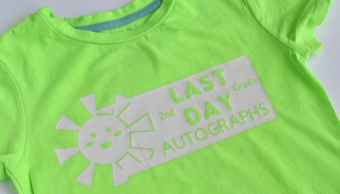 End of School Autograph Shirts (designs for grades 1st – 12th)