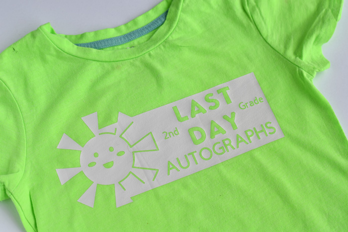 End of School Autograph Shirts (designs for grades 1st - 12th)