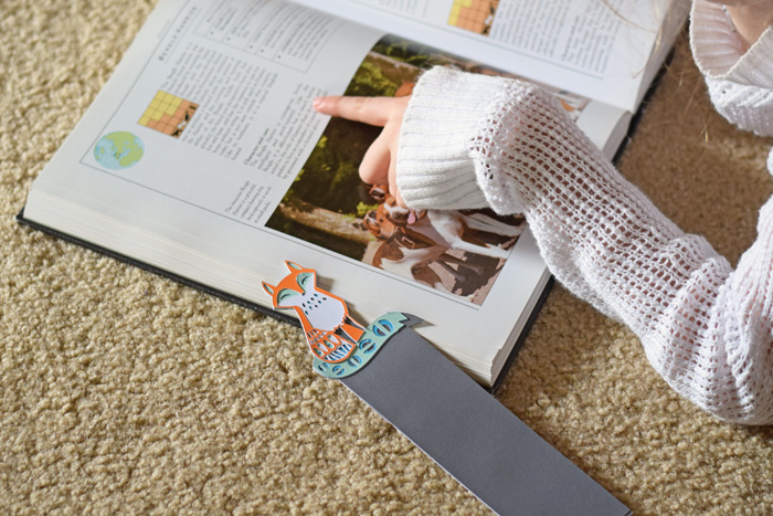 DIY Woodland Animal Fox Bookmark made with the Cricut machine