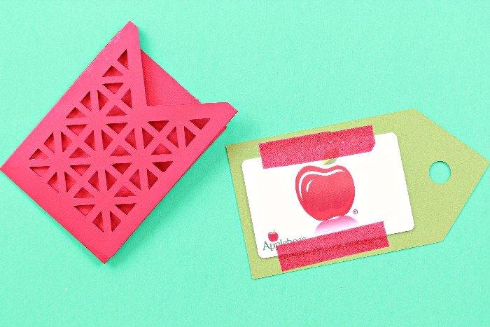 Teacher Appreciation Gift Card Holder made with the Cricut