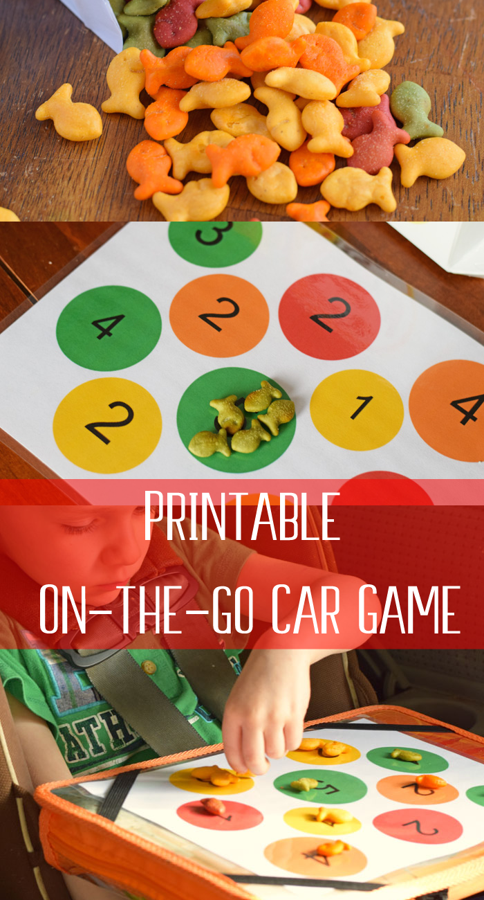 Color and Number Matching Game (with free printable)
