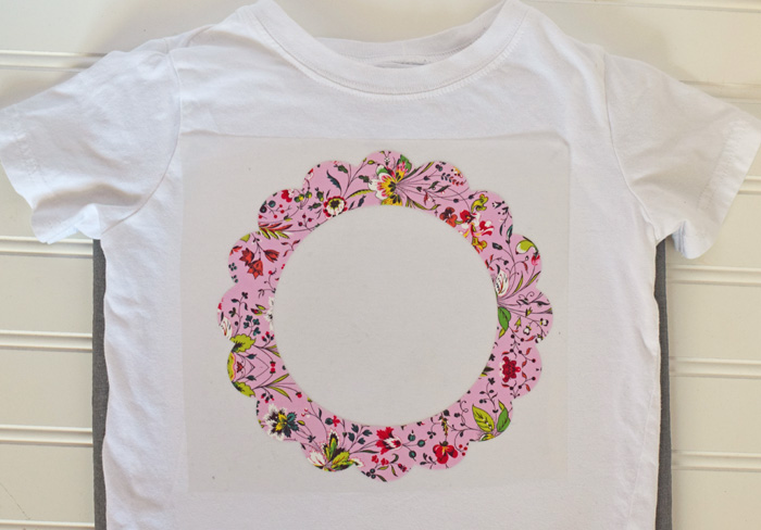 Hello Spring Shirt with Cricut  AD