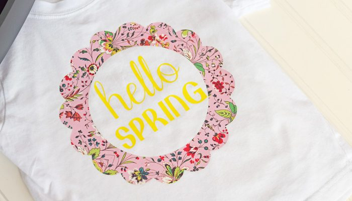Hello Spring Shirt with Cricut AD