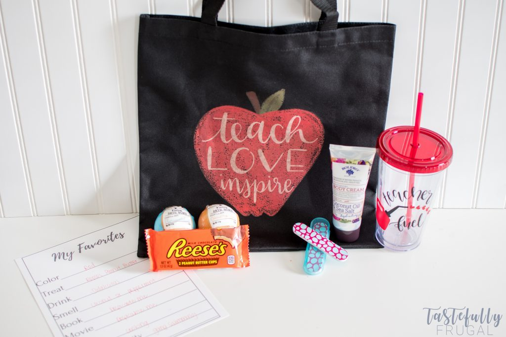Teacher Appreciation Tote and Tumbler made with the Cricut for Teacher Appreciation