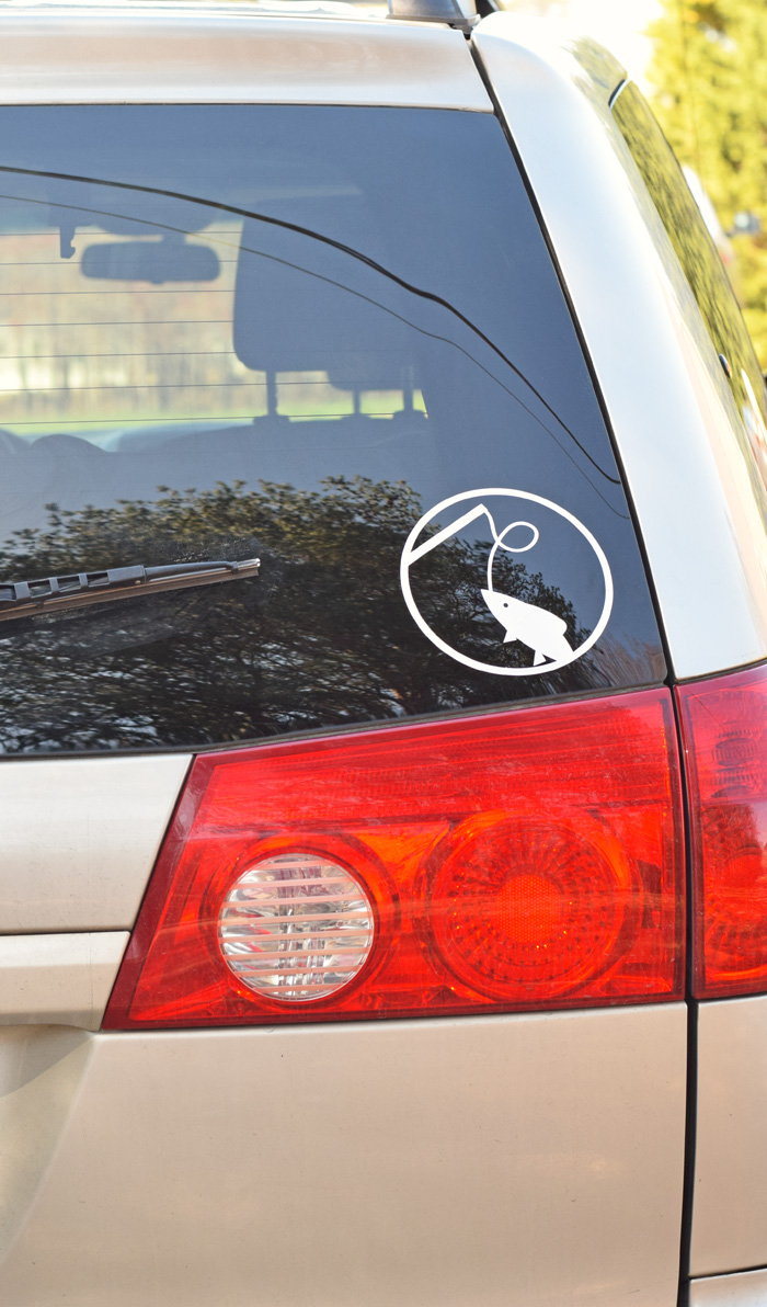 DIY Fishing Car Decal with the Cricut machine AD