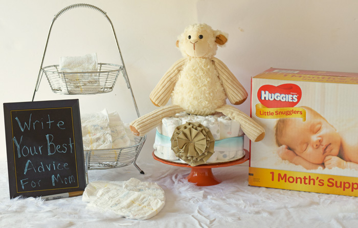 3 Ways to Gift Diapers at a Baby Shower AD