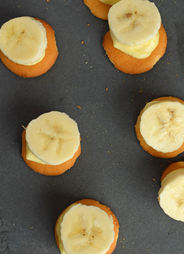 No Bake Banana Pudding Bites recipe AD