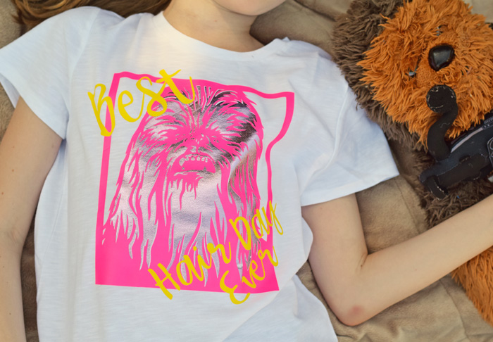 DIY Chewbacca Star Wars Iron-on Shirt made with the Cricut machine