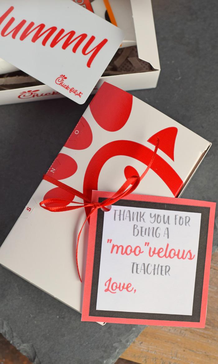 Chick-fil-a Teacher Appreciation Free Gift Tag Printable