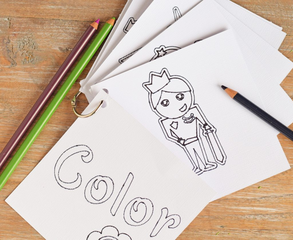 DIY Custom Coloring Book Made with the Cricut