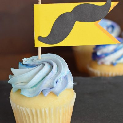 Father's Day Cupcake Topper made with the Cricut machine