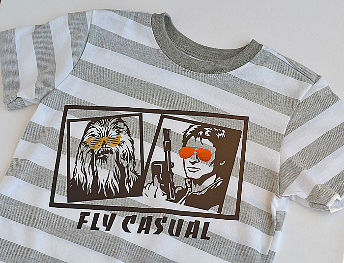 Hans and Chewy Star Wars inspired DIY Iron-on Shirt made with a Cricut machine