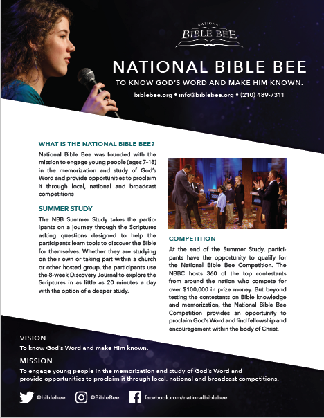 National Bible Bee AD