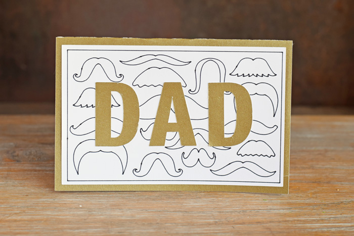 Multiple Mustache Father's Day card made with the Cricut machine