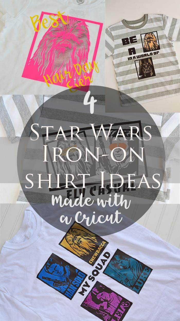 4 Star Wars Inspired Iron On Shirt Designs