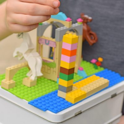 DIY Travel Block Case with MAYKA Toy Block Tape AD