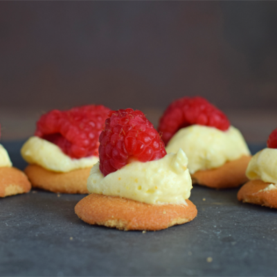 Raspberry Lemon Bites recipe for a quick summer dessert