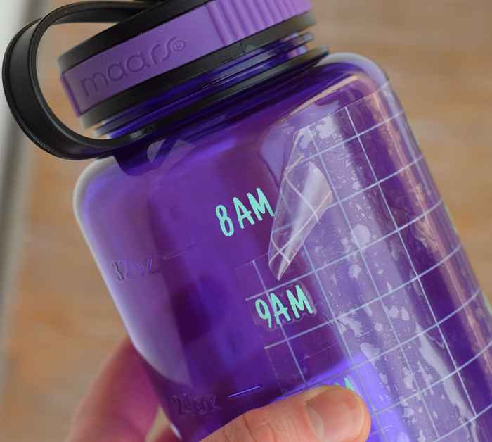 DIY Mermaid Water Tracker Bottle with Cricut and FontBundles AD