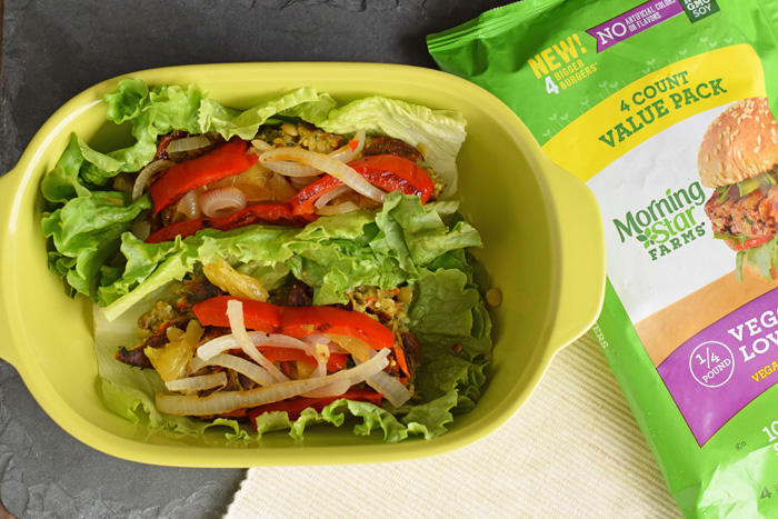 Meatless Sweet and Sour Hawaiian Lettuce Wrap recipe for Meatless Monday AD