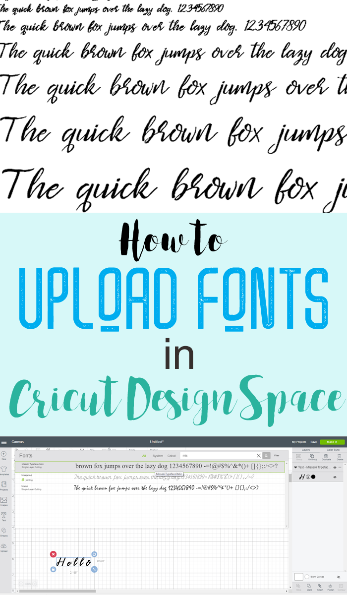 How to Upload a Font to Cricut Design Space