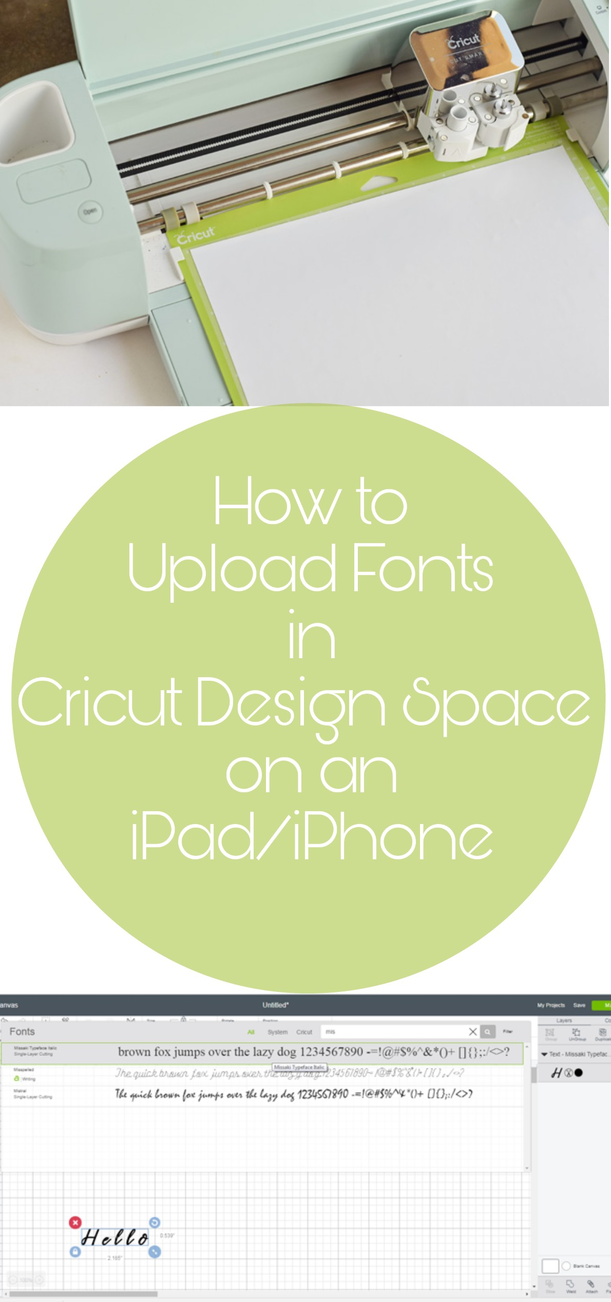 How to Upload Fonts into Cricut Design Space on an iPad or