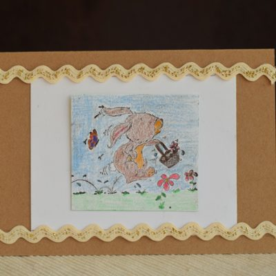 Easy Stamped Card with Card Scraps AD