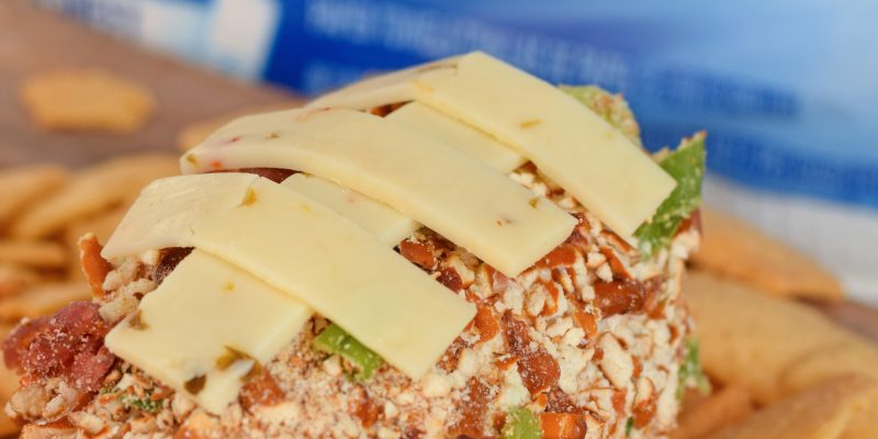Football Cheese Ball recipe for game day AD