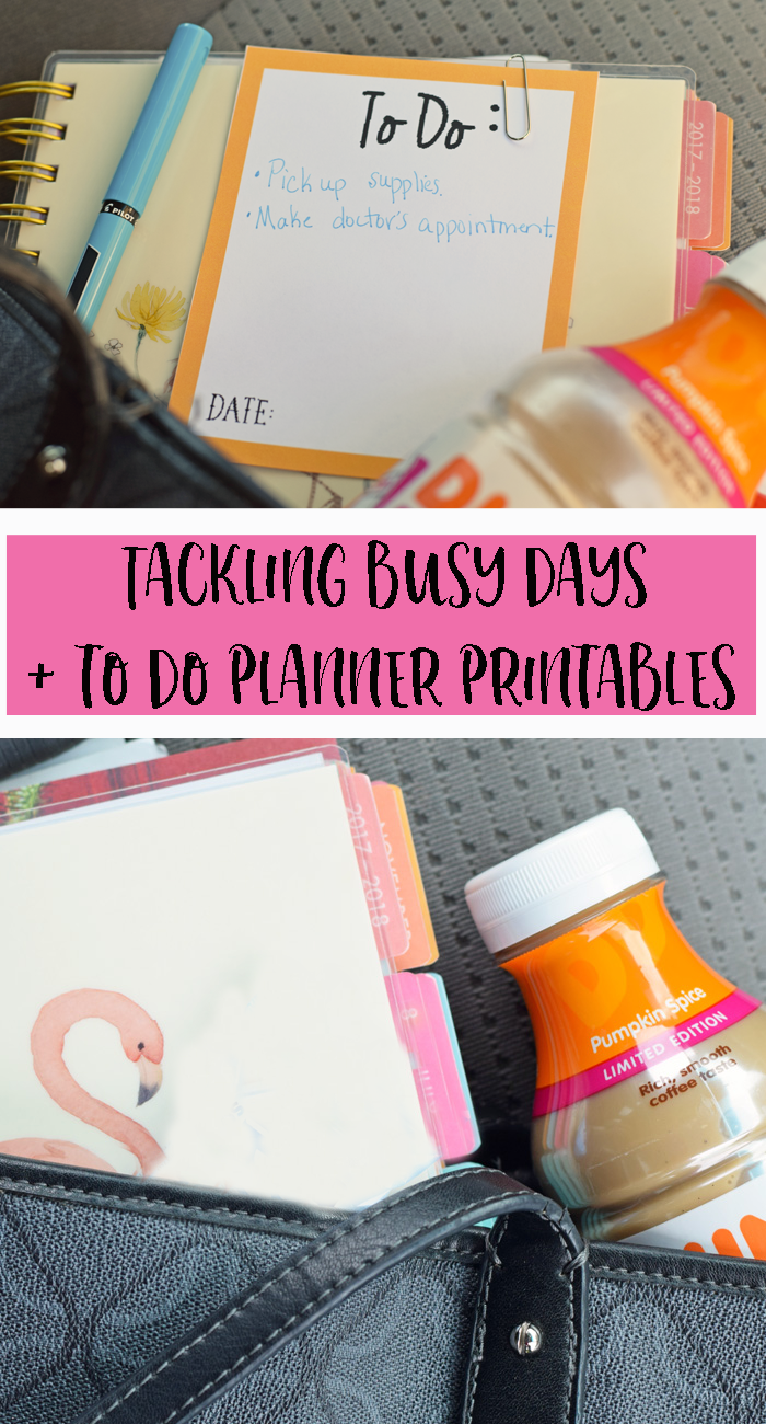 Tackling Busy Days + To Do Planner Printable AD