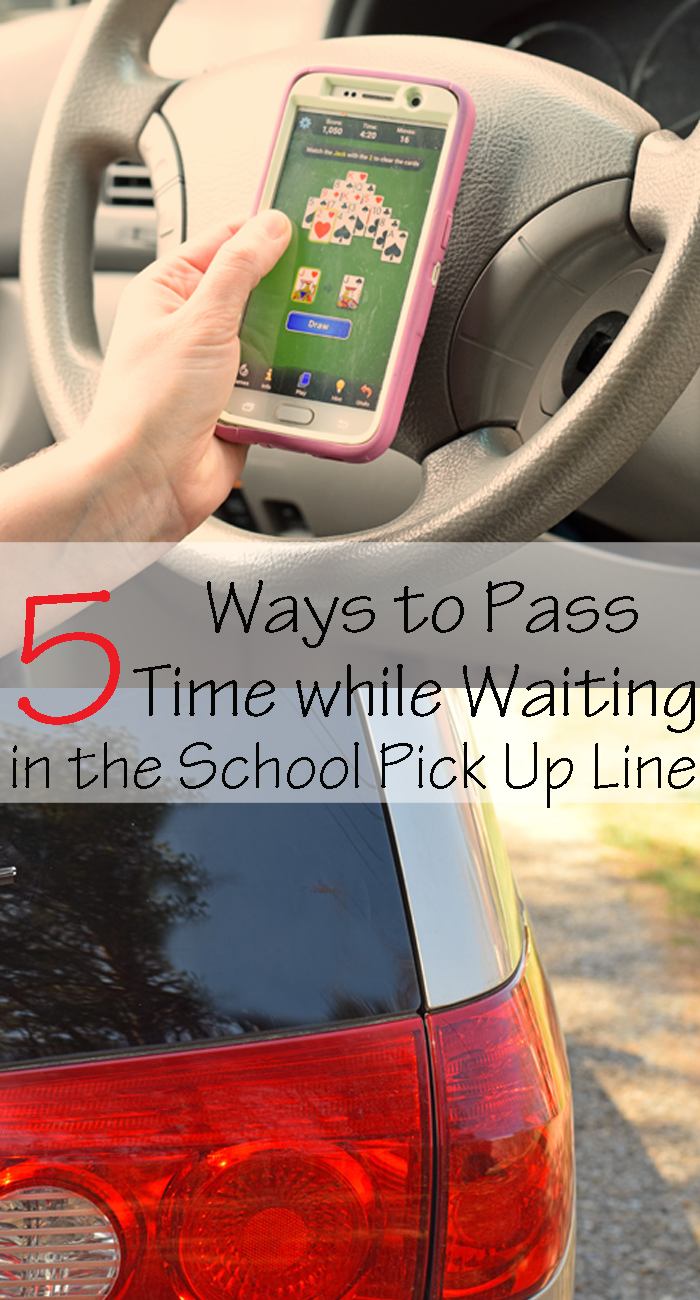 5 Ways to Pass Time While Waiting in the School Pick Up Line AD