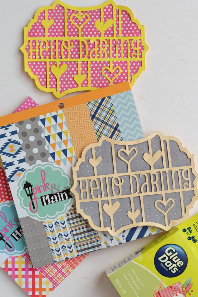 Hello Darling Greeting Cards with Pink & Main AD