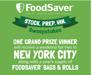 Food Saver Sweepstakes AD