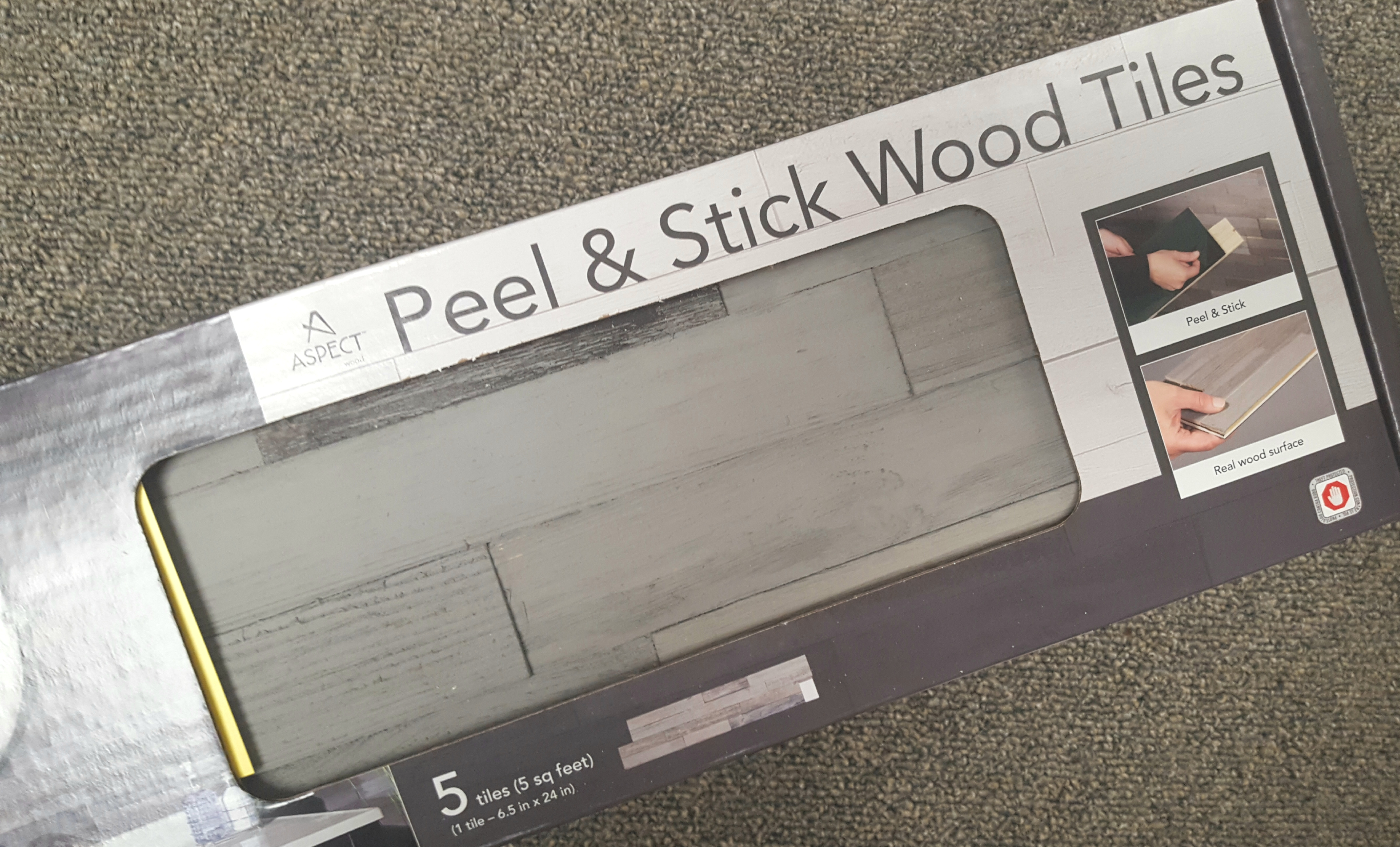 DIY Desk Makeover with Aspect Peel & Stick Tiles AD