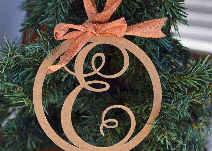 Letter Christmas Ornament and 5 FAQ about the Cricut Maker