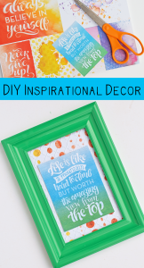 DIY Inspirational Desk Decor AD