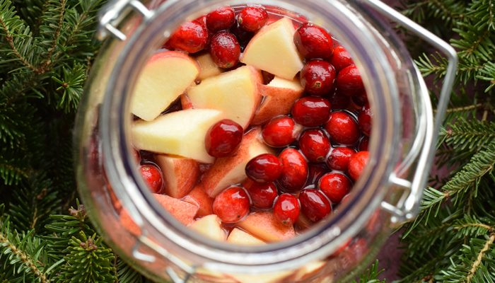 Cranberry and Apple Punch + Punch Glass Markers DIY Tutorial AD