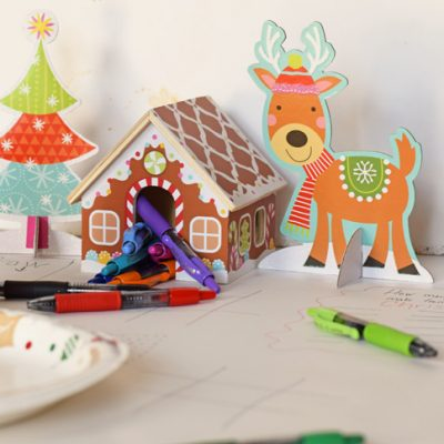 DIY Holiday Kid's Activity Table Cloth AD