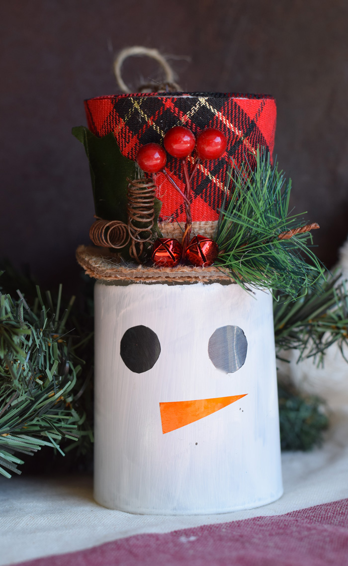 DIY Dollar Tree Christmas Snowman Craft