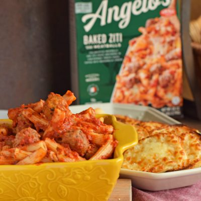 Cheesy Bread Recipe with Baked Ziti AD