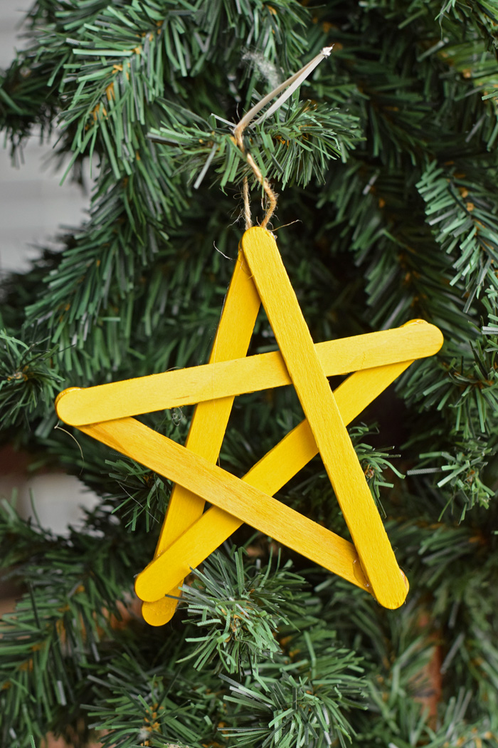 How to Create the Perfect Craft Stick Star Ornament