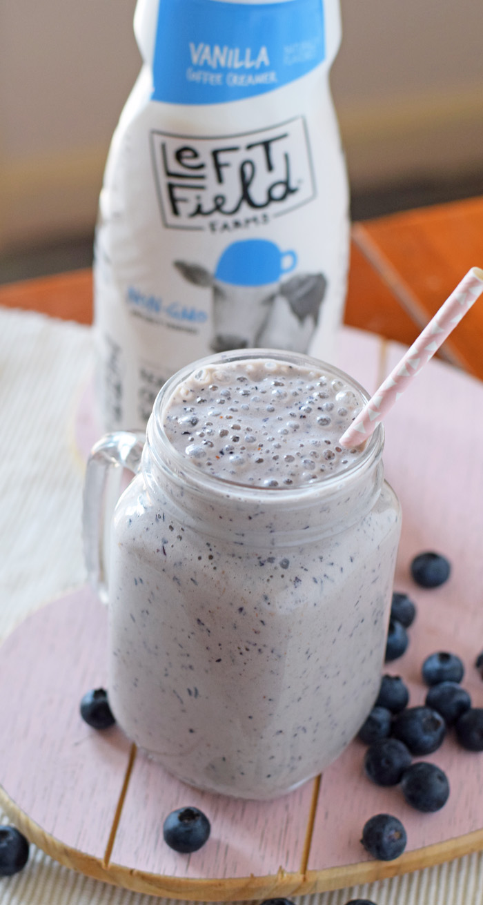 Very Vanilla Creamy Blueberry Smoothie AD