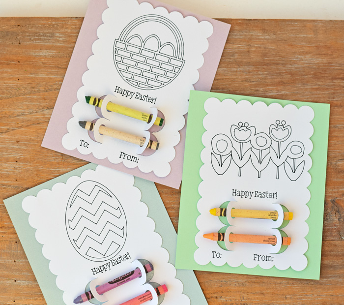 Colorable Easter Cards {made with a Cricut machine!} AD
