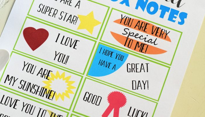 Making School Lunches More Exciting with Free Printable Sweet Lunchbox Notes + Chobani® Gimmies™ yogurt
