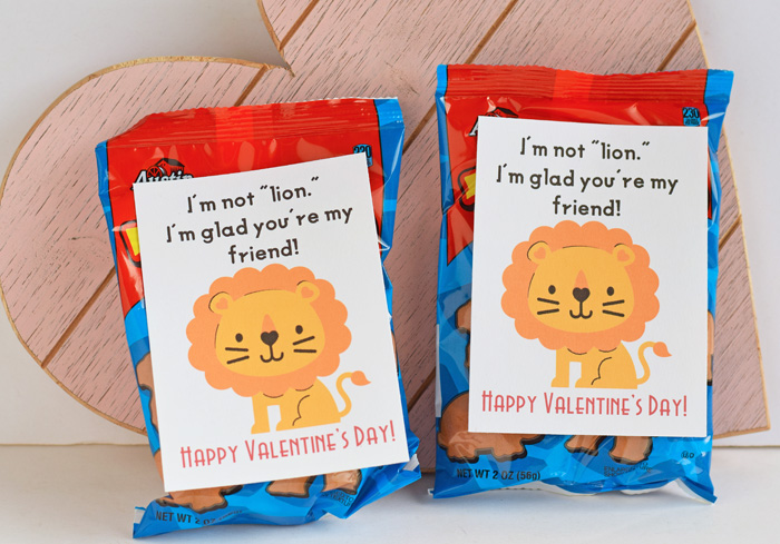 Animal Cracker Classroom Valentines