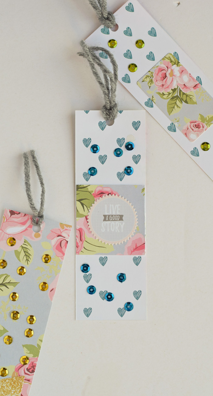 Sequin Bookmarks Craft AD
