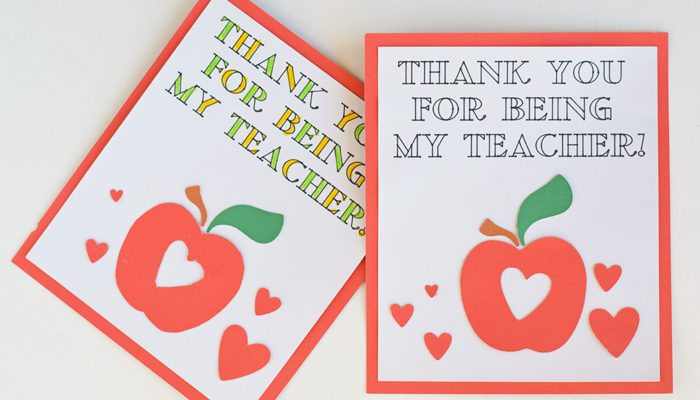 Colorable Teacher Appreciation Card