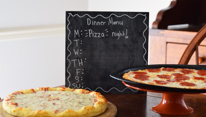 DIY Chalkboard Dinner Menu Board