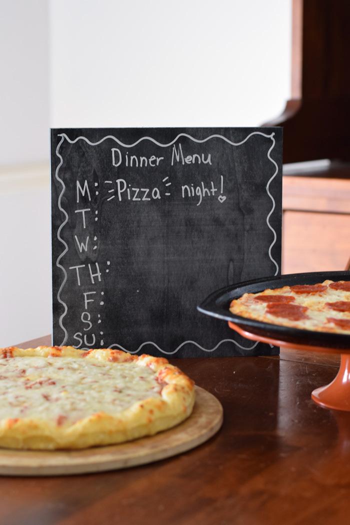 DIY Chalkboard Dinner Menu Board AD