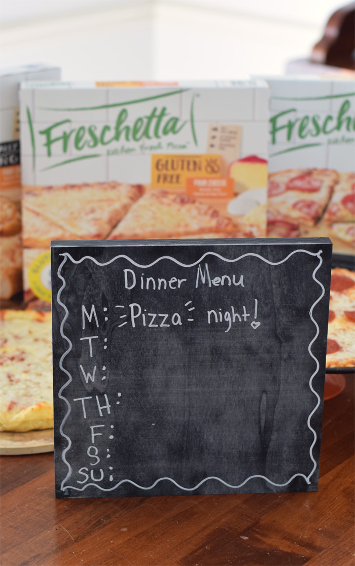 DIY Chalkboard Dinner Menu Board AD