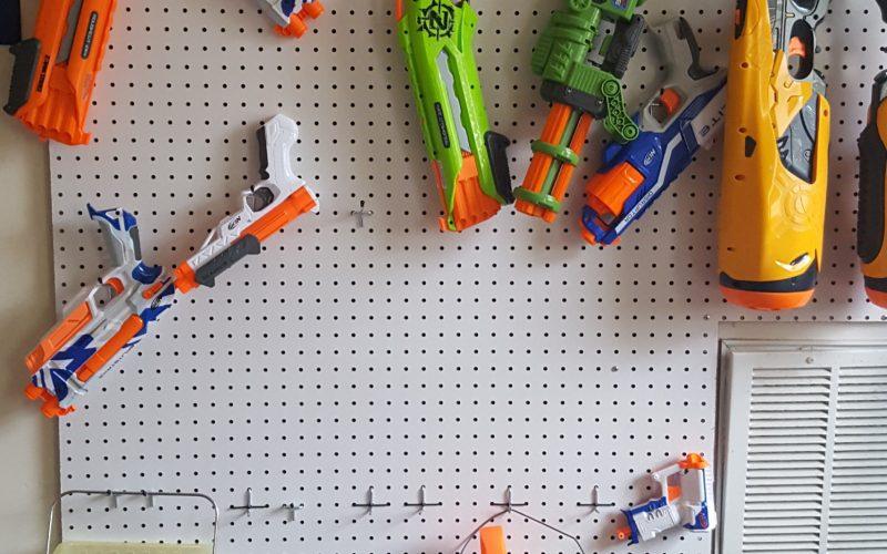 DIY Nerf Gun Pegboard Wall
