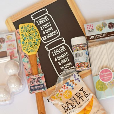 DIY Kitchen Measurement Reversible Sign + Baker's Raffle Basket Ideas